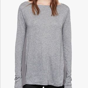 All Saints Longsleeve T-shirt Chiffon Sides